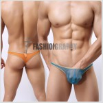Golden Edge Mesh Transparent T-back Men's Underwear