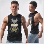 Batman Side Deep-V Hunky Singlet for Men