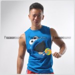 Cookies Monster Side Deep-V Hunky Singlet