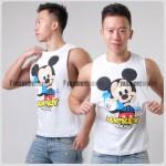 Baby Mickey Side Deep-V Hunky Singlet